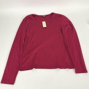 Womens Ann Taylor Long Sleeve Blouse Size M